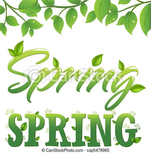 春 - csp5478965