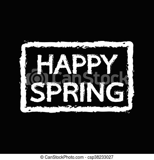 春, デザイン, 活版印刷, イラスト, 幸せ - csp38233027