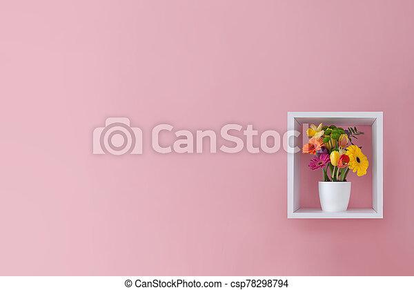 春, デザイン, 花, 最小である, 背景 - csp78298794