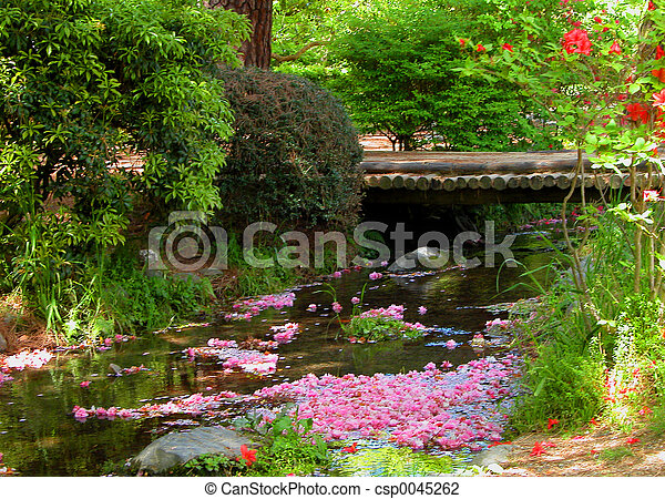 春, 川 - csp0045262