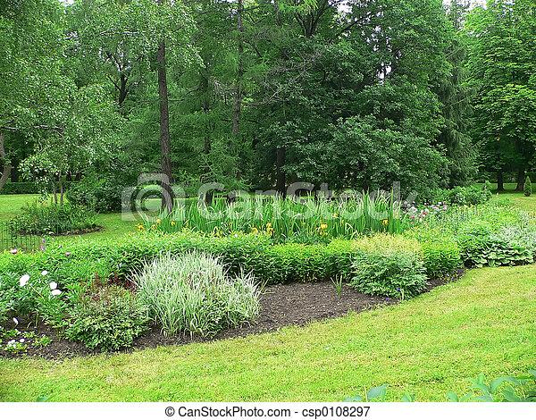 春, 庭 - csp0108297