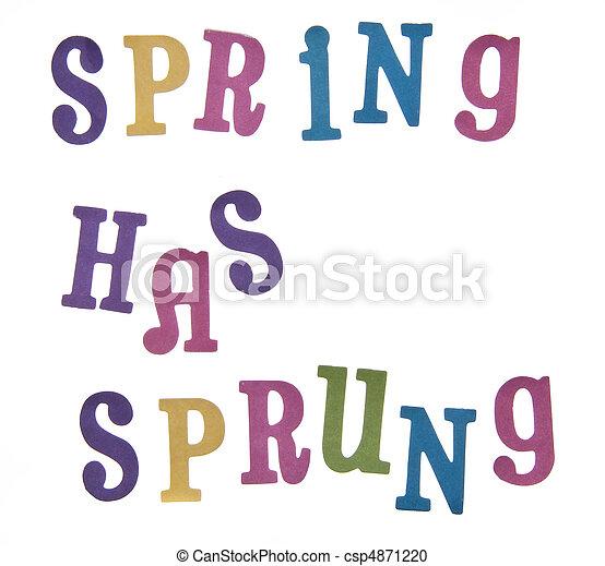 春, 持つ, sprung! - csp4871220
