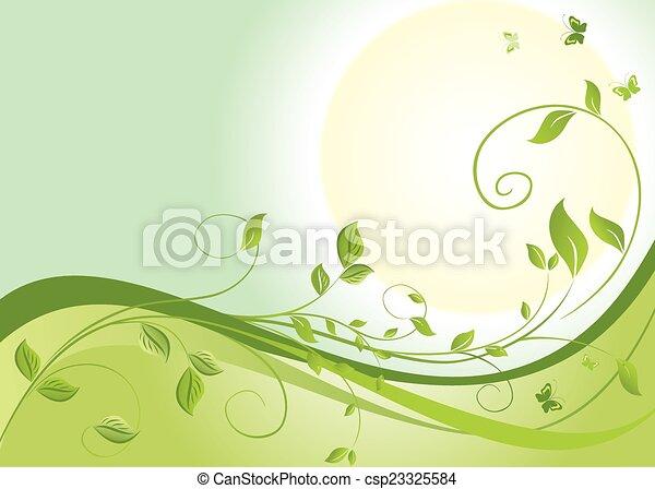 春, 日の出 - csp23325584