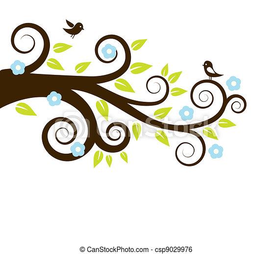 春, 木, 鳥 - csp9029976