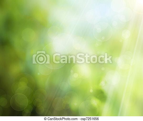 春, 背景, 自然, 抽象的 - csp7251656