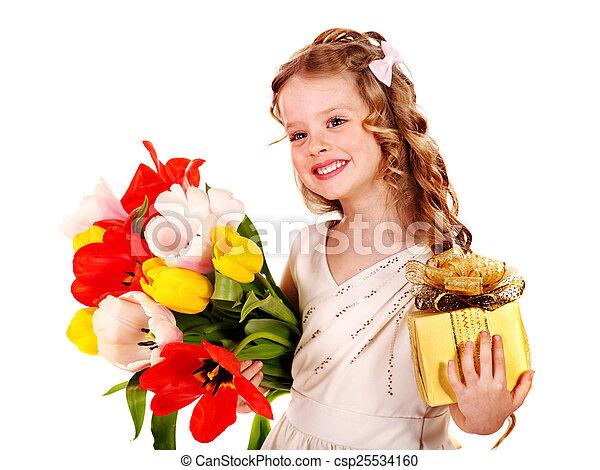 春, flower., 子供 - csp25534160