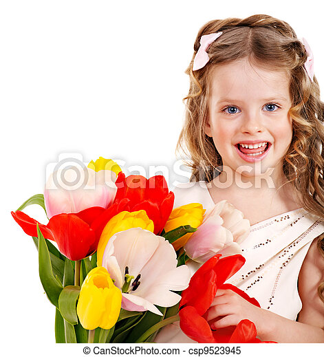 春, flower., 子供 - csp9523945