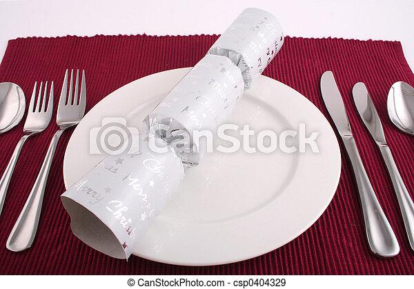 昼食, クリスマス - csp0404329