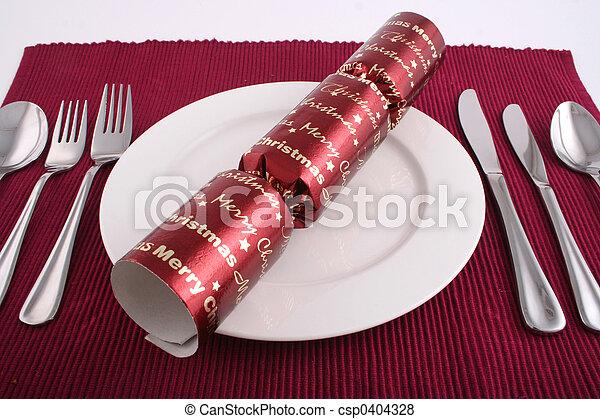 昼食, クリスマス - csp0404328
