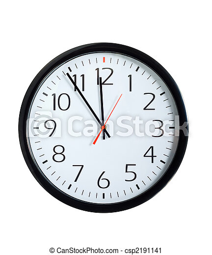 時計, オフィス, 顔 - csp2191141
