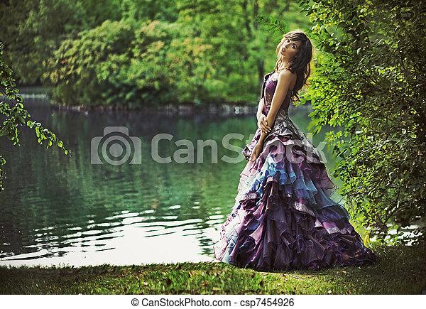 景色, 若い, 美しさ, 自然 - csp7454926