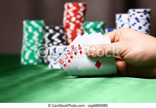 晶片, 地方, 啤牌, player., 卡片 - csp6890980