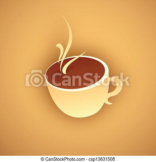 暑い, ペーパー, コーヒー - csp13631508