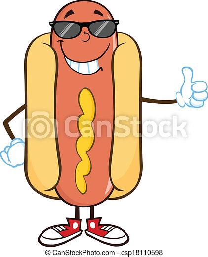 暑い, 特徴, 微笑, 漫画, 犬 - csp18110598