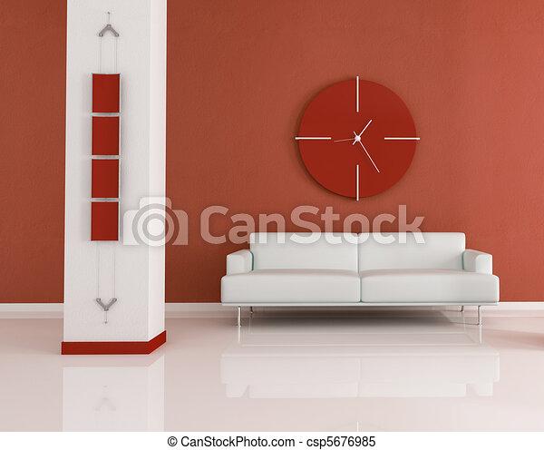 暗い, オレンジ, 部屋, 暮らし - csp5676985