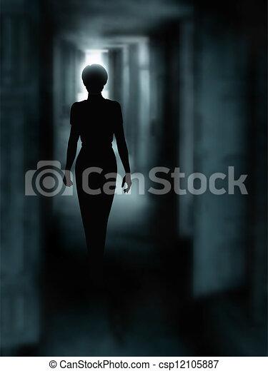 暗い, 廊下 - csp12105887