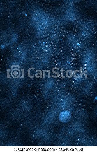 暗い, 雨 - csp40267650