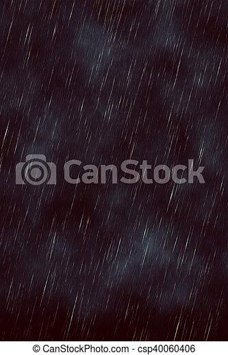 暗い, 雨 - csp40060406