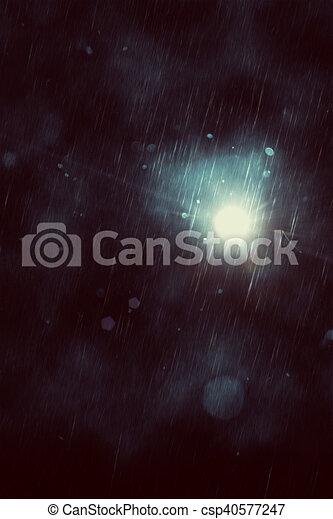暗い, 雨 - csp40577247