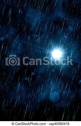 暗い, 雨 - csp40060418