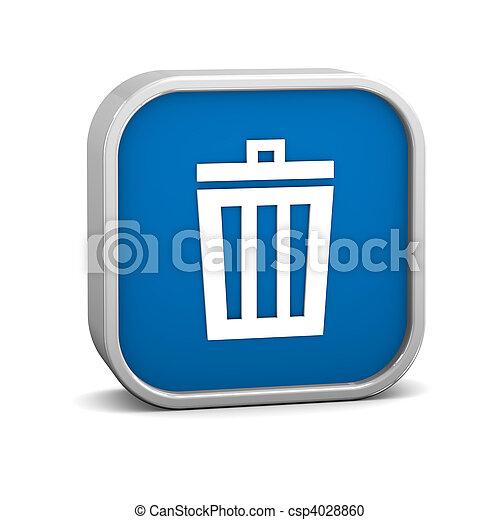 暗い 青, ごみ箱, 印 - csp4028860