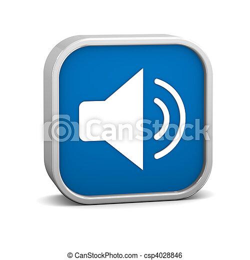 暗い 青, 可能にしなさい, オーディオ, 印 - csp4028846