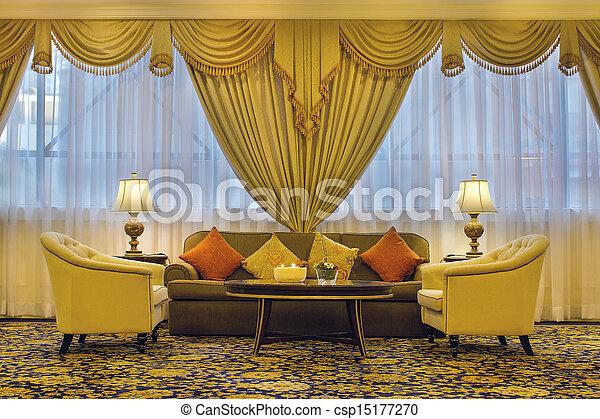 暮らし, 家具, 華やか, 部屋, カーテン - csp15177270