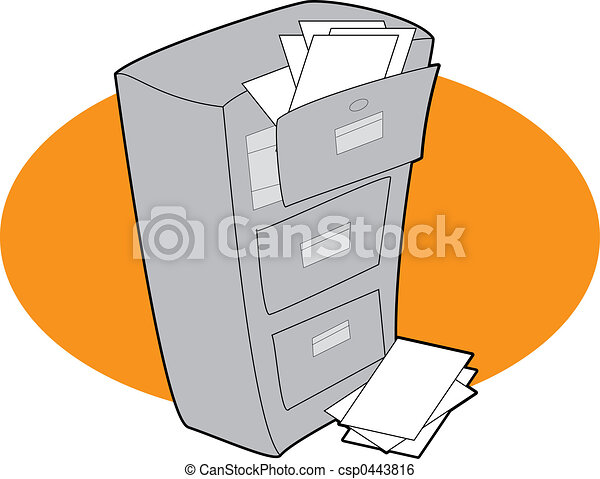 書類整理キャビネット - csp0443816