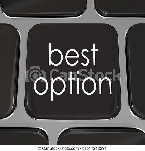 最も良く, キー, コンピュータ, よりよい, キーボード, 上, 選択, 選択 - csp17212291