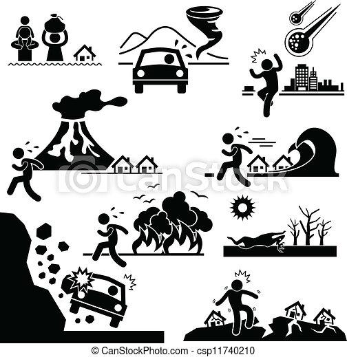 最後の審判の日, 災害, 大災害 - csp11740210