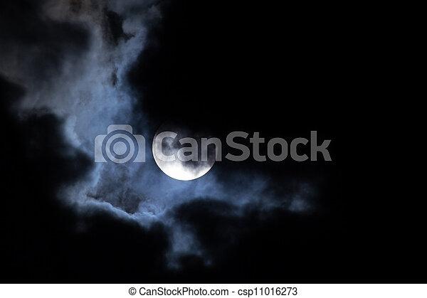 月亮, 云, 夜晚 - csp11016273
