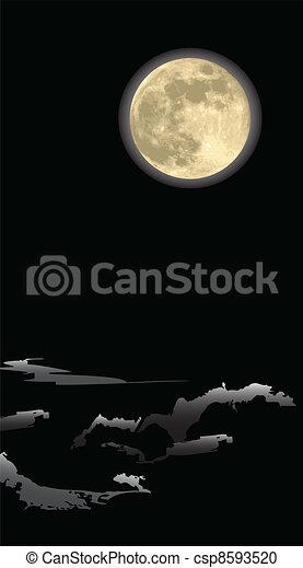 月, 夜 - csp8593520