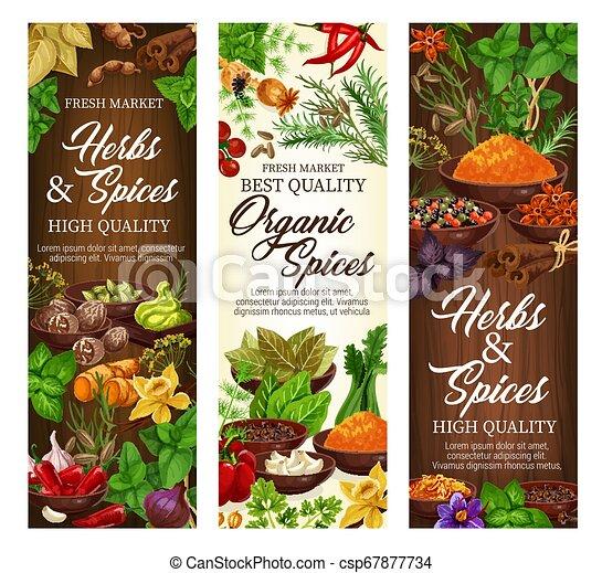 有機体である, 農場, ハーブ, 自然, 調味料, スパイス - csp67877734