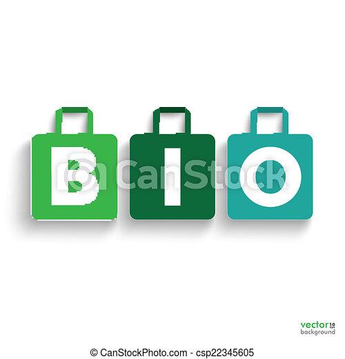 有色人種, 買い物, 紙袋, bio - csp22345605