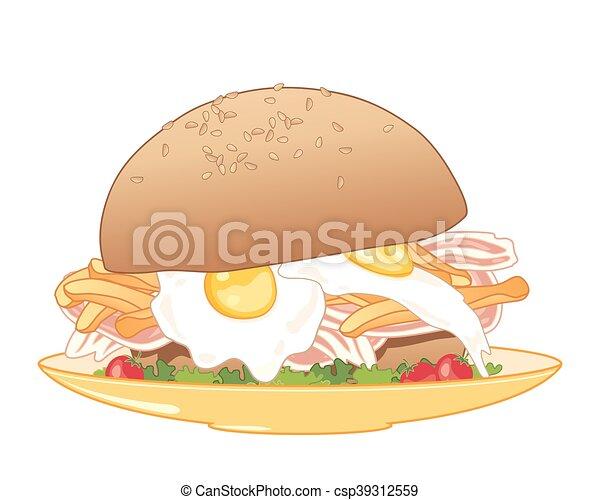 朝食 ロールパン プレート ベクトル 10 サラダ フォーマット