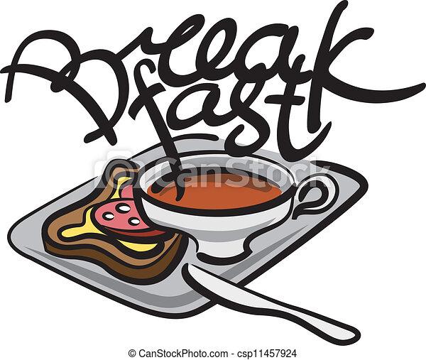 朝食, 手書き - csp11457924