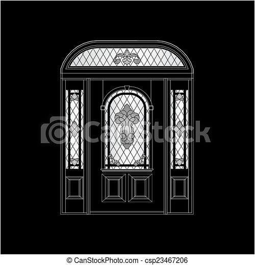 木制的門 - csp23467206