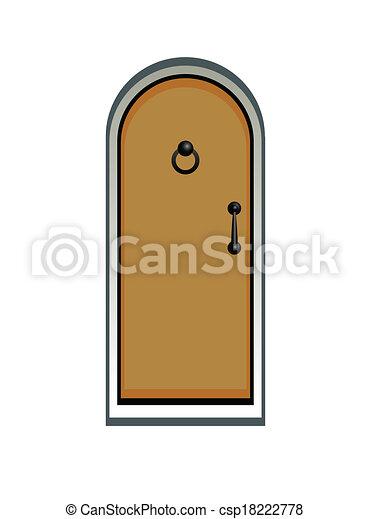 木制的門 - csp18222778