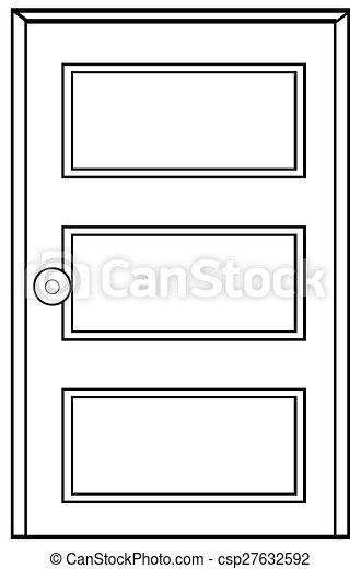 木制的門 - csp27632592