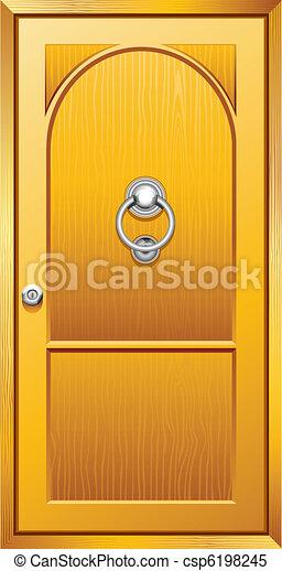 木制的門 - csp6198245