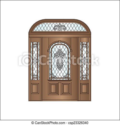 木制的門 - csp23326340