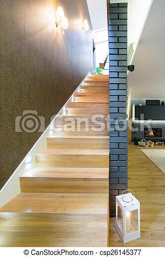 木制, 住处, 楼梯, 奢侈 - csp26145377