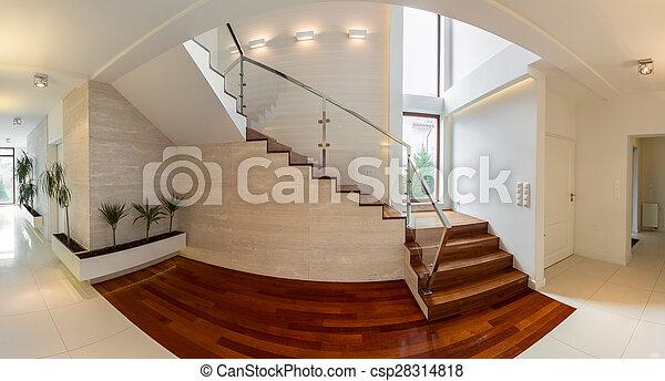 木制, 楼梯, 奢侈, 住处 - csp28314818