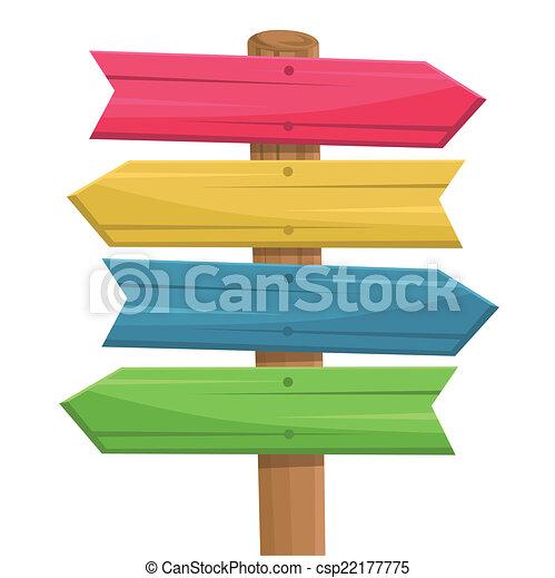 木制, 路線, 矢量, 簽署 - csp22177775