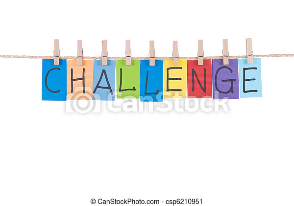 木制, 釘, 懸挂, 詞, 挑戰 - csp6210951