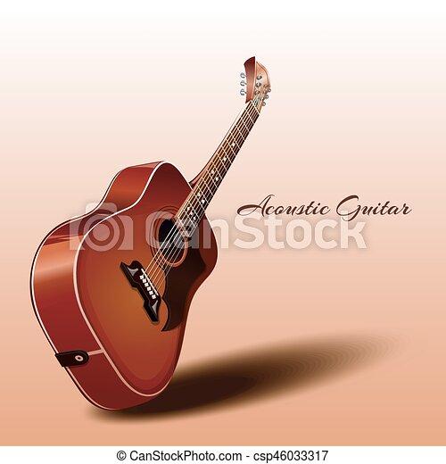 木製である アコースティックギター 木製である Guitar 隔離された