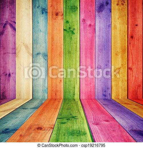 木製である, イラスト, カラフルである, 部屋 - csp19216795