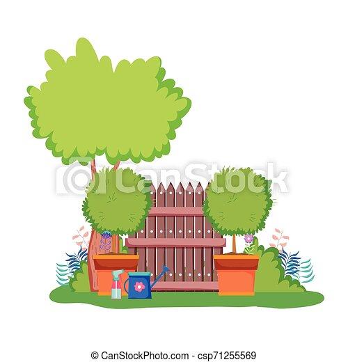 木製である, キャンプ, 木, フェンス - csp71255569
