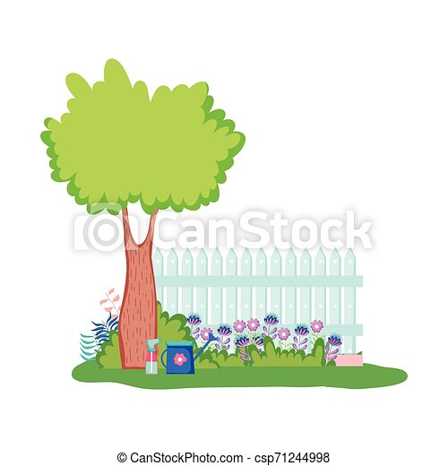 木製である, キャンプ, 木, フェンス - csp71244998