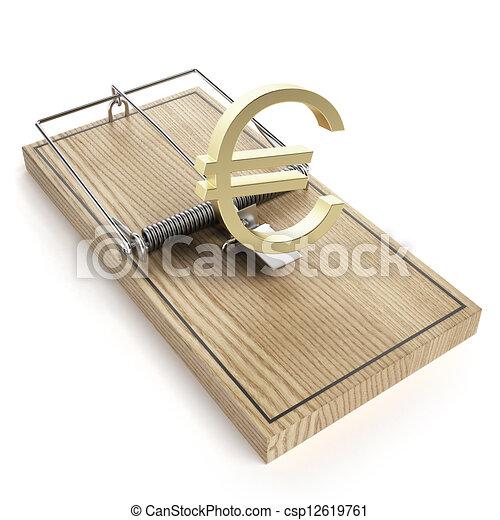 木製である, ユーロ, マウスの トラップ, 印 - csp12619761